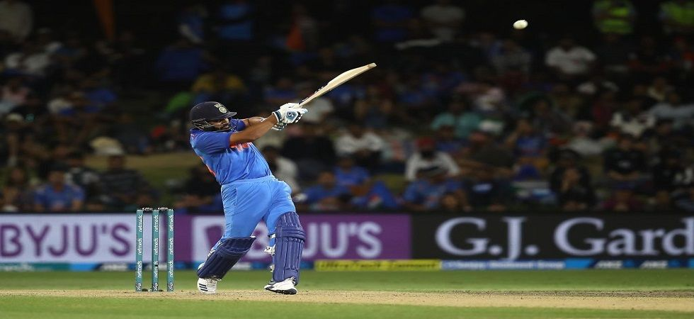 Rohit Sharma could become the leading six-hitter in ODIs during the Hamilton game against New Zealand. (Image credit: BCCI Twitter)