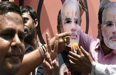 Celebrations begin after BJP wins Haryana's Jind bypoll, Congress wishes luck to Khattar