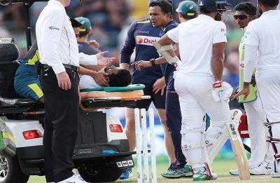 Dimuth Karunaratne gets hit by bouncer, taken to hospital in Canberra Test vs Australia