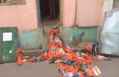BJP office in Mamata Banerjee's constituency Bhawanipore vandalised