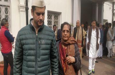 ND Tiwari's son Rohit Shekhar, mother Ujjwala Tiwari seen at AICC office, likely to join Congress