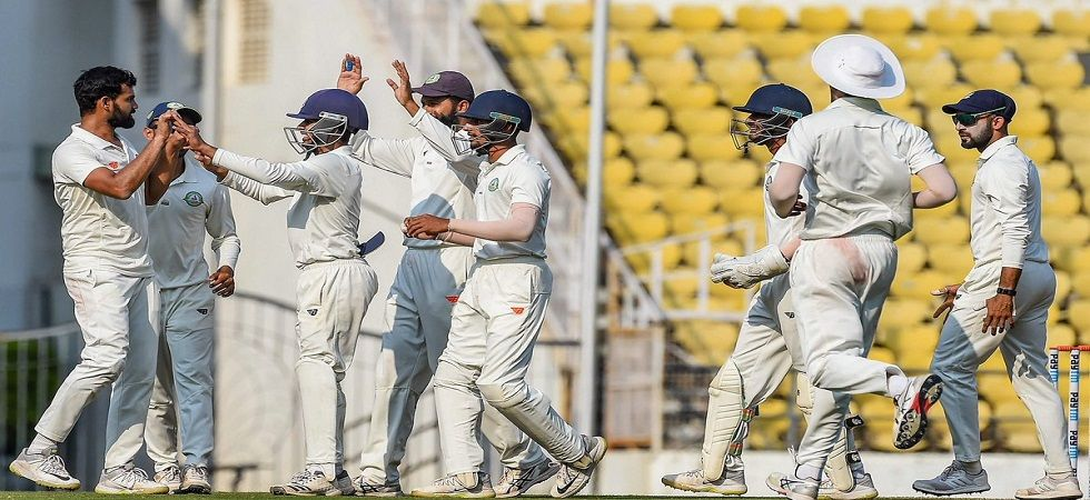 Aditya Sarwate took 11 wickets in the final as Vidarbha won the Ranji Trophy title by beating Saurashtra by 78 runs. (Image credit: Twitter)