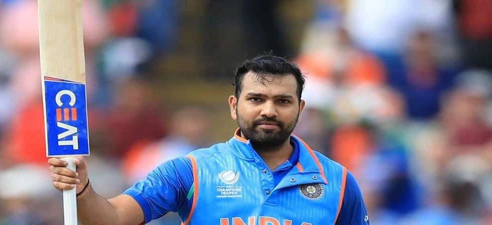 Rohit Sharma became the third player after Martin Guptill and Chris Gayle to hit 100 sixes in T20Is. (Image credit: Twitter)