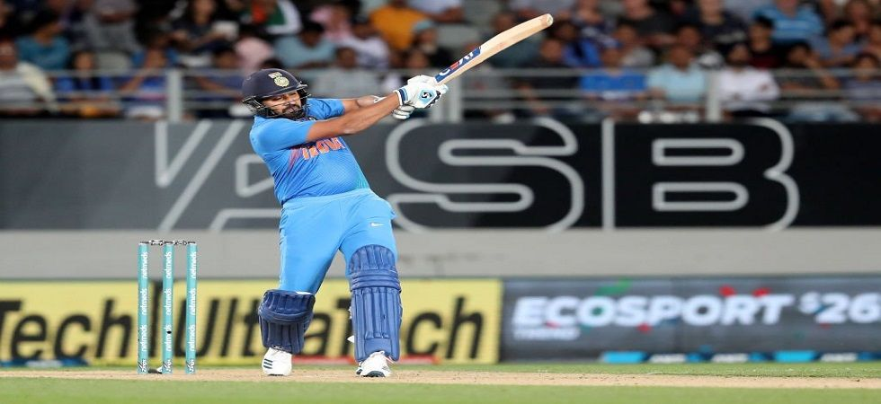 Rohit Sharma helped India break the jinx in grand style by becoming the leading run-getter in T20Is. (Image credit: ICC Twitter)