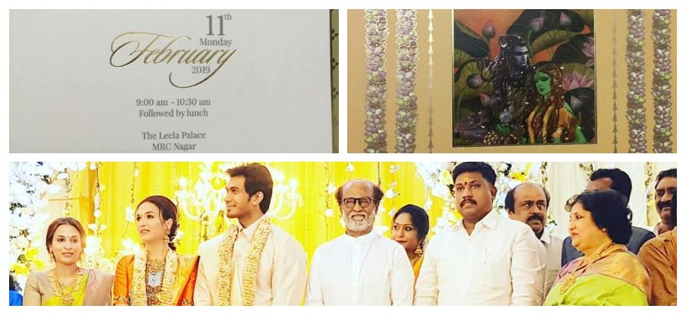 Soundarya Rajinikanth and Vishagan Vanangamudi wedding invitation card out (Photo: Instagram)
