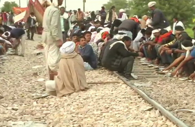 Gujjar Quota Agitation: Shots fired, police vehicles torched, train tracks blocked on Day 3