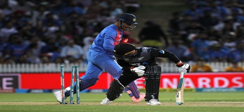 MS Dhoni effected a quick stumping in just 0.099 seconds and reaffirmed that he is a freak of nature. (Image credit: Twitter)