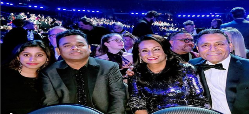 Music maestro AR Rahman attends the 2019 Grammy Awards ceremony with his daughter Raheema.