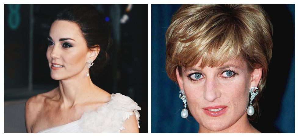 Kate Middleton steals the BAFTA Awards in a Princess Diana earrings (Photo: Twitter)