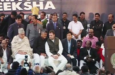 Chandrababu Naidu's day-long fast becomes centre-stage for show of opposition unity