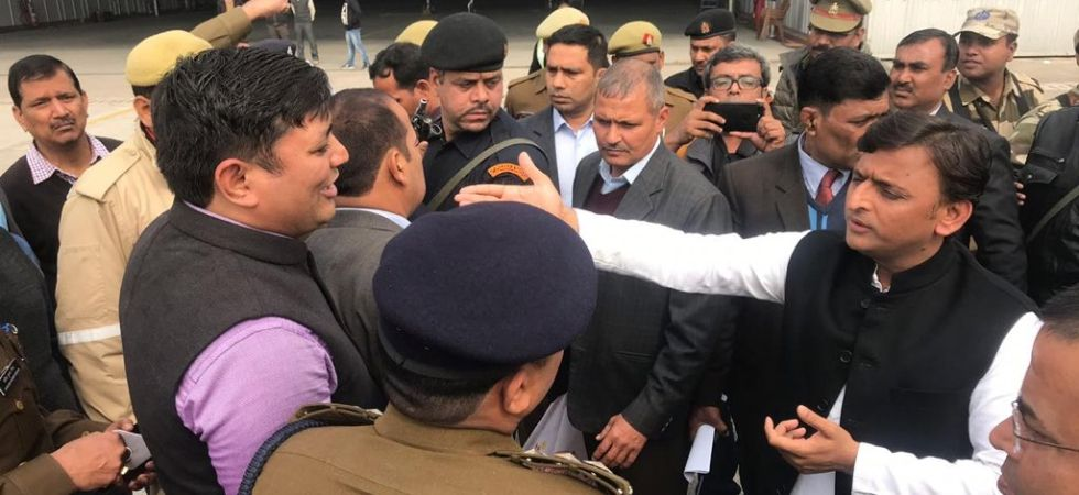 Akhilesh Yadav's 'detention' at Lucknow Airport sparks war of words in UP, Yogi Adityanath blames SP for ruckus