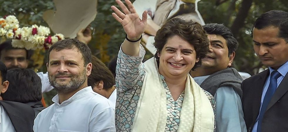 In her maiden address to Congress leaders, Priyanka Gandhi directs to end factionalism (Photo Source: PTI)