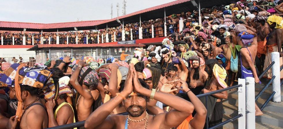 Certain restrictions have been put in place at the Nilakkal base camp to ensure that there is no untoward situation. There are possibilities of a protest by Sangh outfits against the entry of women. (File photo)
