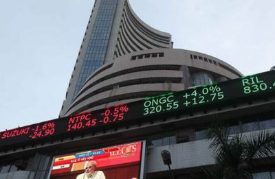 Sensex rises over 150 points on easing inflation, positive global cues