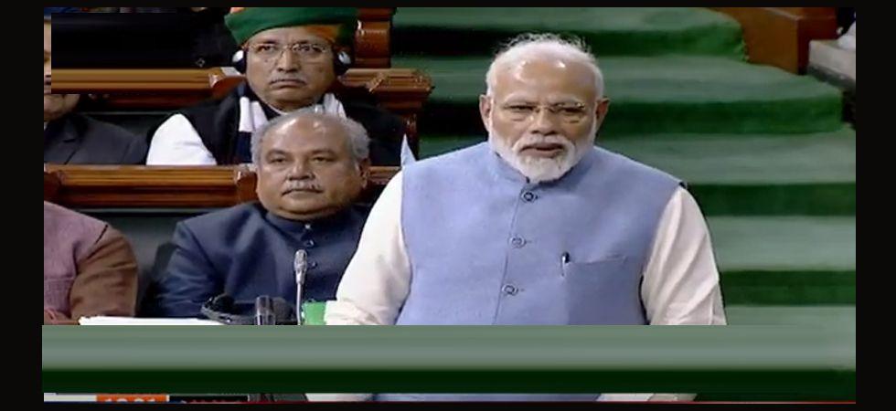 Prime Minister Narendra Modi addresses Lok Sabha