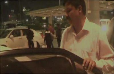 Karnataka: Rebel Congress MLA Ramesh Jarkiholi returns home after prolonged absence
