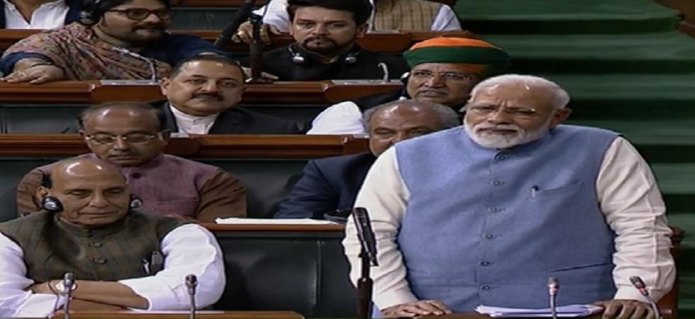 Prime Minister Narendra Modi takes a swipe at Rahul Gandhi in his last Lok Sabha speech before the 2019 Lok Sabha elections.