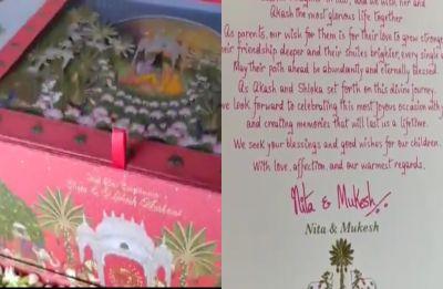 Akash Ambani and Shloka Mehta wedding: Here's the first glimpse of official wedding card, watch VIDEO