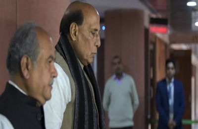Pulwama terror attack: Union Home Minister Rajnath Singh takes stock of country's security