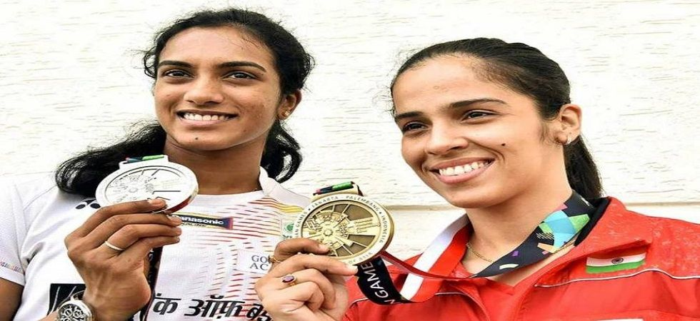 Saina Nehwal defeated PV Sindhu in the final of the 2018 Commonwealth Games in Gold Coast to clinch the Gold Medal. (Image credit: Twitter)