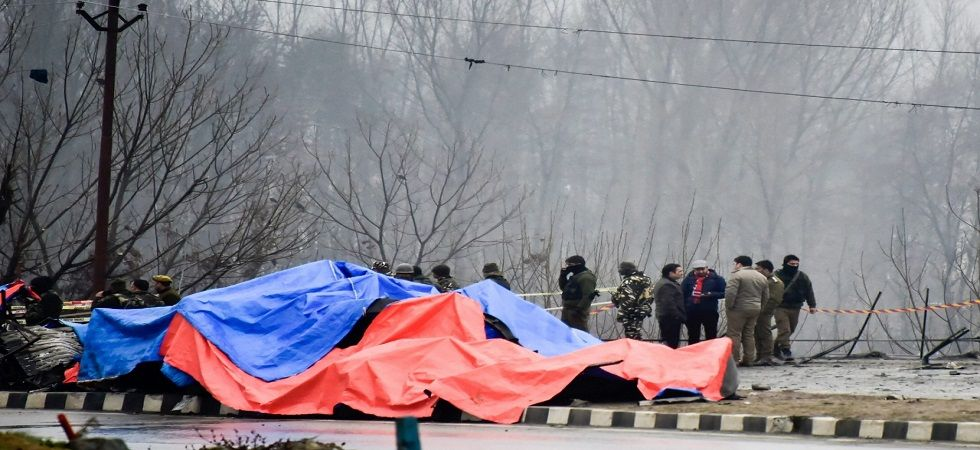 The suicide attack took place at the 272nd milestone on National Highway near Latoomode in Pulwama at about 3:33 pm. (PTI)