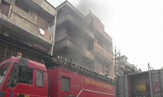 Fire breaks out in Delhi's Narela shoe factory, 12 fire tenders at