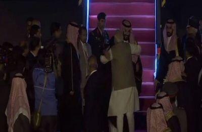 PM Modi breaks protocol, receives Saudi Arabia Crown Prince at Palam Airport