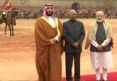 Saudi Arabia Crown Prince Mohammed Bin Salman receives ceremonial reception at Rashtrapati Bhavan