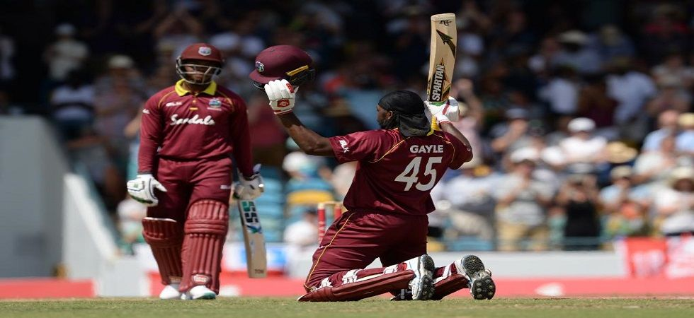 Chris Gayle slammed his 24th century and became the leading six-hitter in the game of cricket during the ODI against England in Barbados. (Image credit: ICC Twitter)