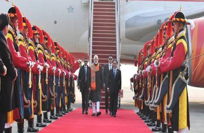 Prime Minister Narendra Modi arrives in South Korea on 2-day visit