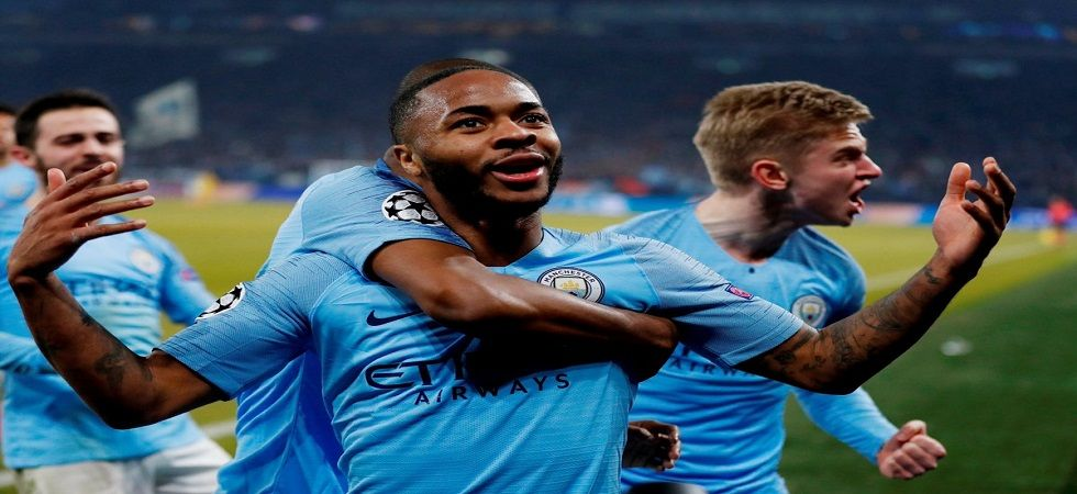 Raheem Sterling scored in the 90th minute as Manchester City scored twice in five minutes to register a win against Schalke. (Image credit: Twitter)