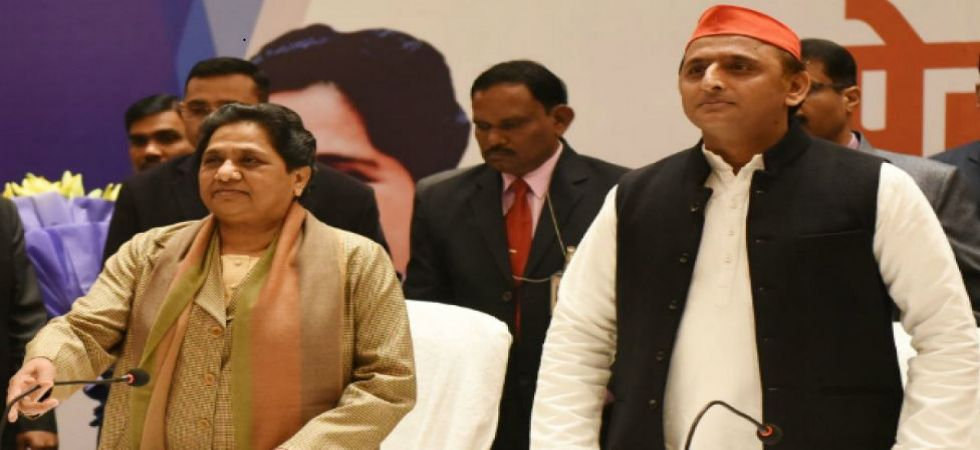 BSP chief Mayawati and SP leader Akhilesh Yadav. The seats to be contested by the SP include Varanasi and Lucknow. (File photo)