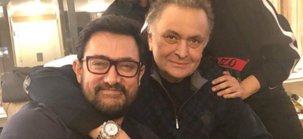 Aamir Khan visits Rishi Kapoor in New York./ Image: Instagram