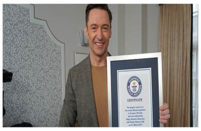 Hugh Jackman becomes Guinness World Records holder for 'Longest Career as a Live Action Marvel Superhero'