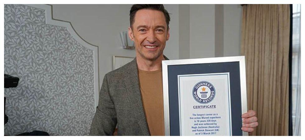 Hugh Jackman becomes a Guinness World Records holder (Photo: Twitter)