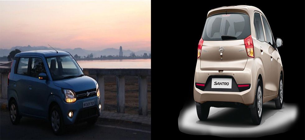 Maruti Suzuki Wagon R vs Hyundai Santro (file photo)