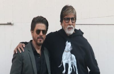 Amitabh Bachchan and Shah Rukh Khan shoot for a special video for their upcoming film Badla!