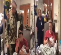 WATCH: This video of soldier surprising wife at hospital after birth of twins will leave you teary-eyed