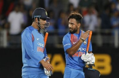 Rishabh Pant sledges captain cool MS Dhoni in a unique way ahead of IPL 2019