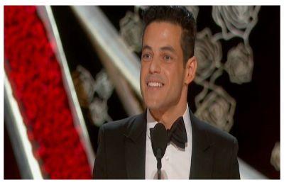 Rami Malek falls off stage post Best Actor Oscar win