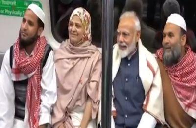 PM Modi takes Delhi Metro ride to attend ISKCON event amid IAF strike cheer