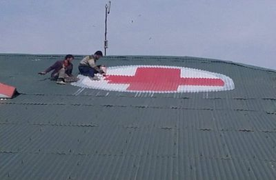 Amid aerial threat, Kashmir hospitals paint red cross on roof tops