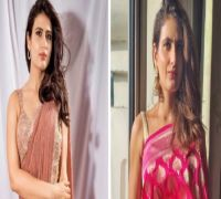 Dangal fame Fatima Sana Shaikh aces ethnic look, turns a saree drapper