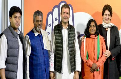 Savitribai Phule, ex-BJP member and Baharaich MP, joins Congress in presence of Rahul and Priyanka