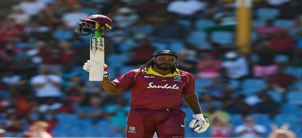 Chris Gayle smashed 77 off 27 balls as West Indies leveled the five-match series 2-2 against England. (Image credit: Twitter)