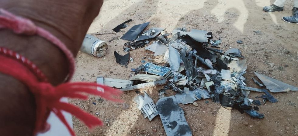 File photo of a Pakistani drone which was shot down near Gujarat's Kutch border on February 26.