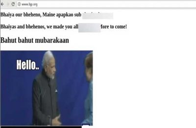 BJP official website hacked, shows meme of PM Modi with Germany Chancellor Angela Merkel