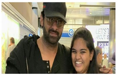 WATCH| Overexcited fan SLAPS Prabhas, his reaction is oh-so-precious