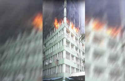 WATCH: Fire breaks out at Pandit Deendayal Antyodaya Bhawan at CGO Complex