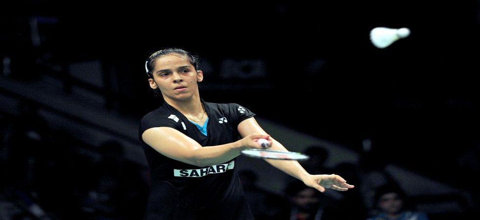 Saina Nehwal efeated Scotland's Kristy Gilmour 21-17 21-18 in 35 minutes in the All England Badminton tournament. (Image credit: Twitter)